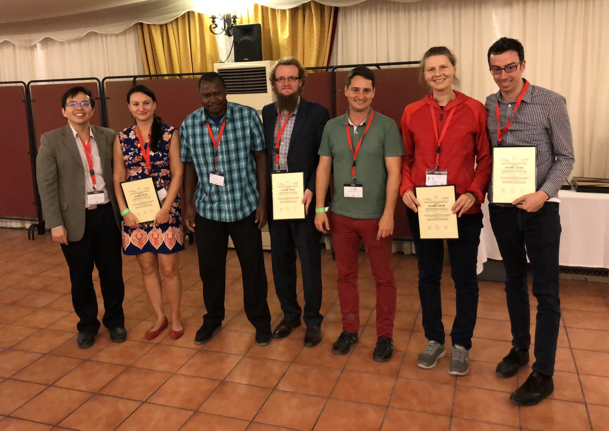 IEEE CS TCSE Distinguished Paper Award